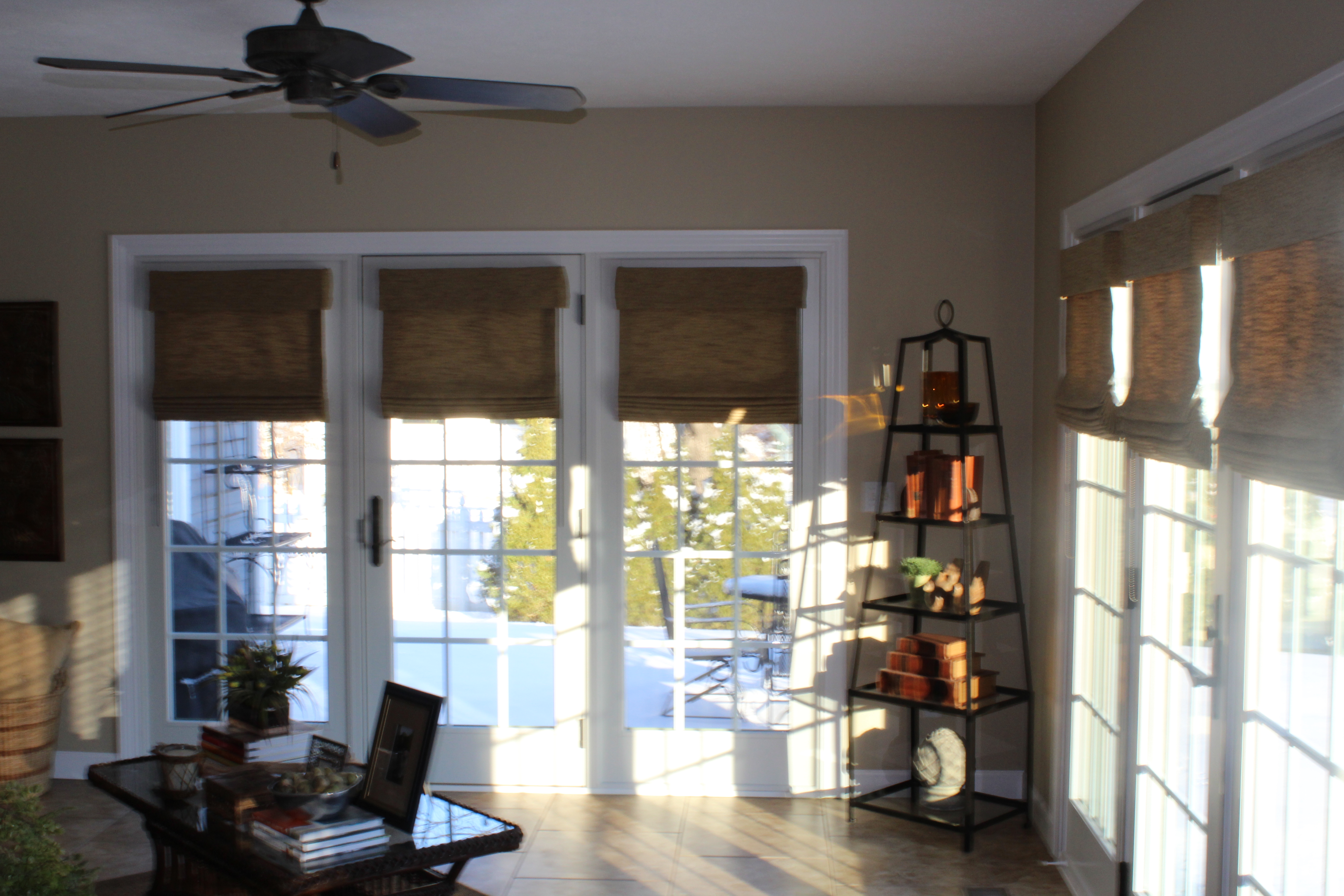 how to make roman shades for french doors